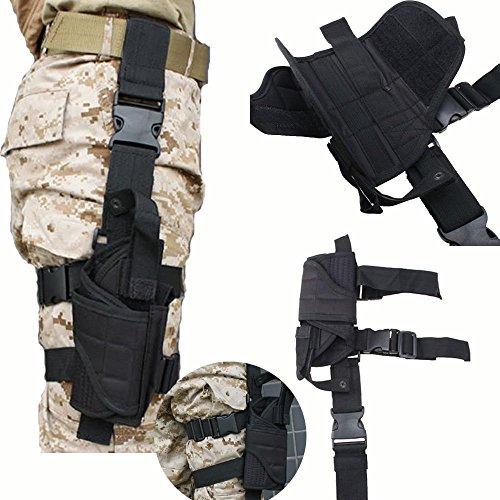 BrainyDeal Tactical Army Black Pistol/Gun Drop Leg Thigh Holster
