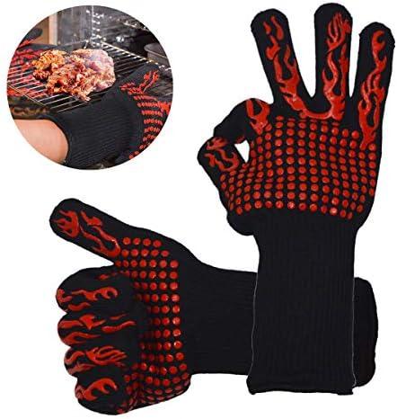 Queenwind シリコーン極端な断熱調理手袋オーブンホット BBQ グリル加熱プルーフミット