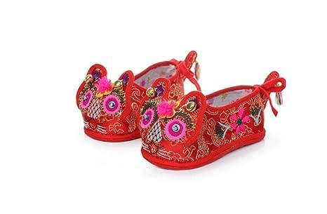 HTXCHOU Zapatos de bebé para niño y niña Zapatos de bebé para niño Tradicional Chino Hutouxie