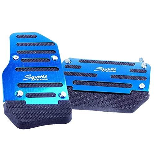 - Vosarea Non Slip Automatic Car Treadle Accelerator Brake Pedal Cover Footrests Set 2pcs (Blue)