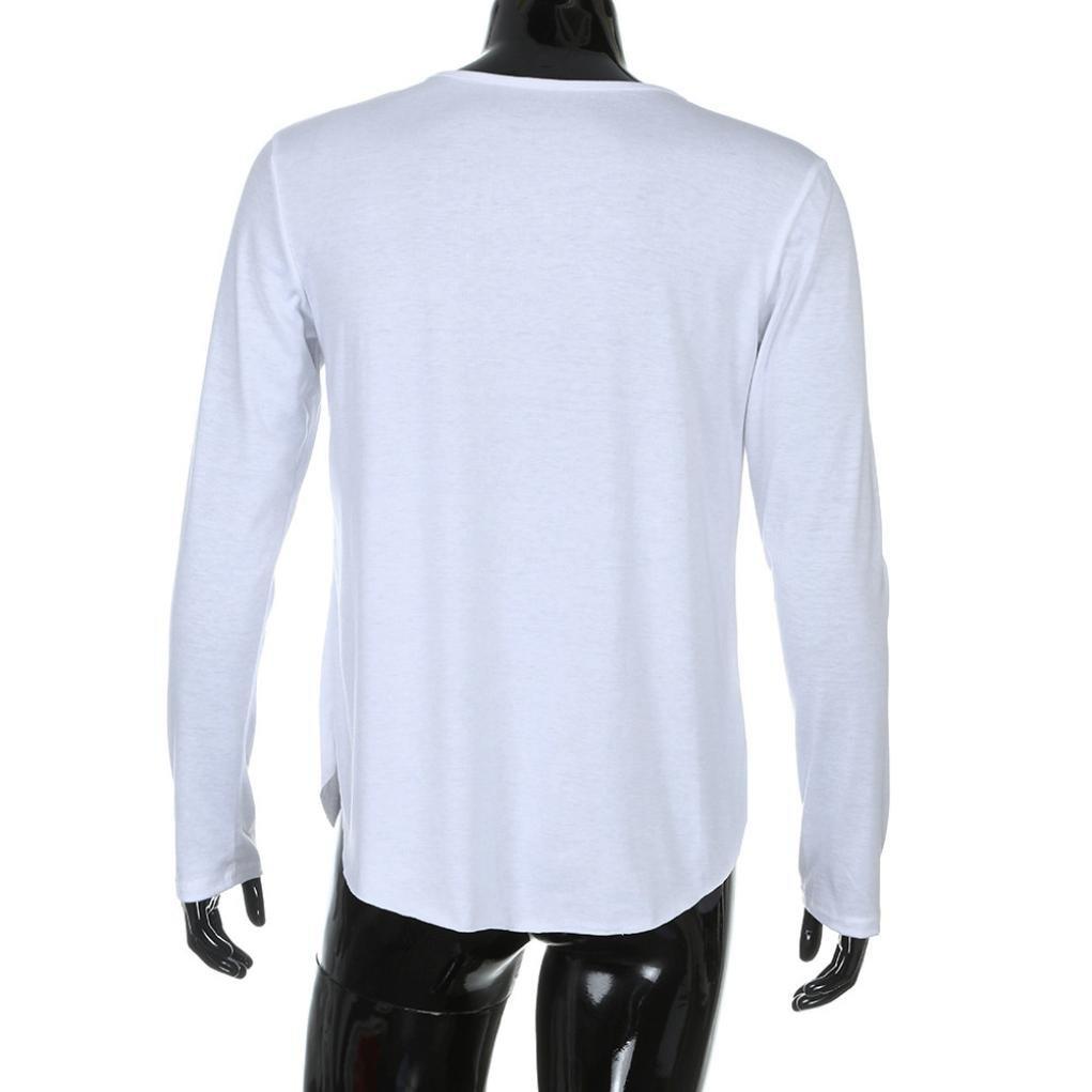 Odjoy Uomo Maglia Manica Lunga Pullover Uomo Invernali Vintage Felpa Maglietta Fashion T-Shirt Uomini Giacche Felpe Sportive con Cappuccio Semplice Inverno Camicetta