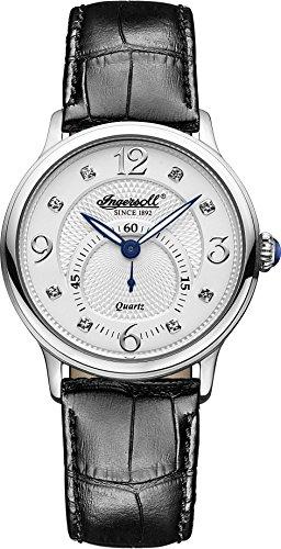 Ingersoll Women's INQ022WHSL Regent Analog Display Japanese Quartz Black Watch