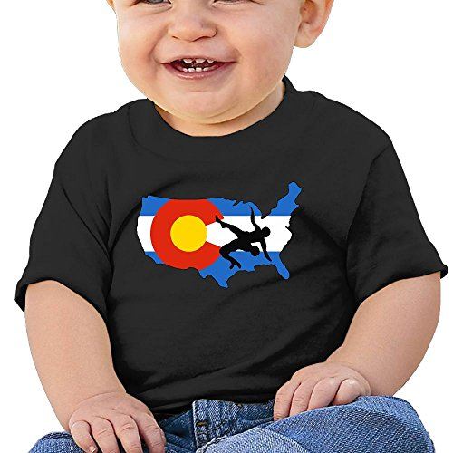 YUEskd Colorado USA Wrestling Baby Boys Girls Summer Short Sleeve Crew Neck T-Shirt for 6-24 Month Tops by YUEskd