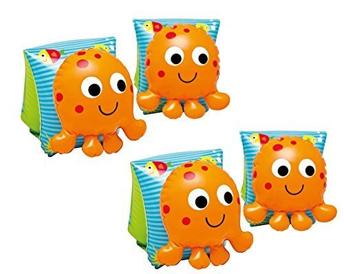 Lil' Octopus inflatable Arm Bands floaties Water Wings swimmies swim floatation sleeves (Two Pair) Color: Two Pair Model: (Lil Baby Model)