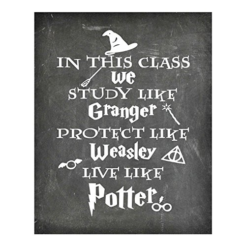 Simply Remarkable Harry Potter - in This Class - Chalkboard Background Poster Print Photo Quality - Made in USA - - Frame not Included (8x10, in This Class)