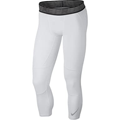 best cheap 71d8a ce0e2 Nike Men s Pro Basketball Tights White Black Size Small