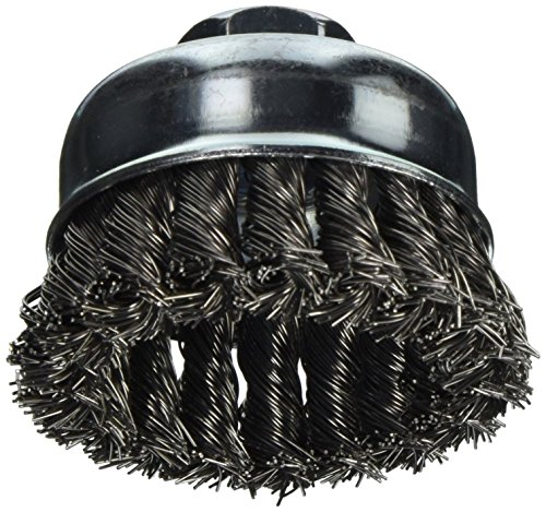 Vermont American 16830 3-Inch Knotted Wire Cup Brush with 5/8-Inch Arbor