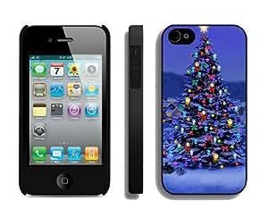 2014 Latest Christmas tree iPhone 4 4S Case 29 Black