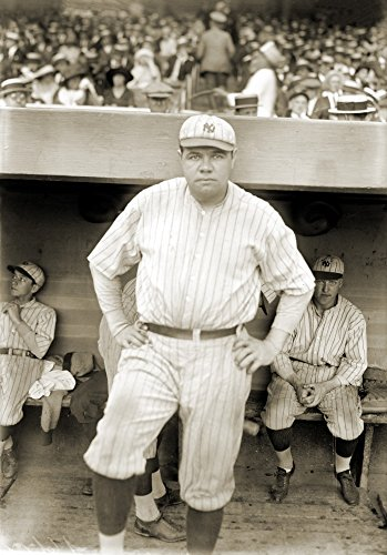 - George H Ruth (1895-1948) Nknown As Babe Ruth American Professional Baseball Player Photographed While Playing With The New York Yankees 1921 Poster Print by (24 x 36)
