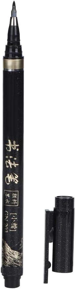 pennarello calligrafia inchiostro nero a punta fine per artista schizzo schizzo e materiale scolastico per ufficio 4 pezzi penne scritte a mano
