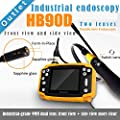 "[SmartFly] HB90D 9mm 3 Meter 3.5"" LCD Dual LENS Endoscope Borescope Snake Inspection Tube Camera DVR Vehicle Inspection Pipeline"