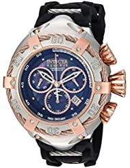 Invicta Mens Bolt Quartz Stainless Steel and Silicone Casual Watch, Color:Black (Model: 21349)