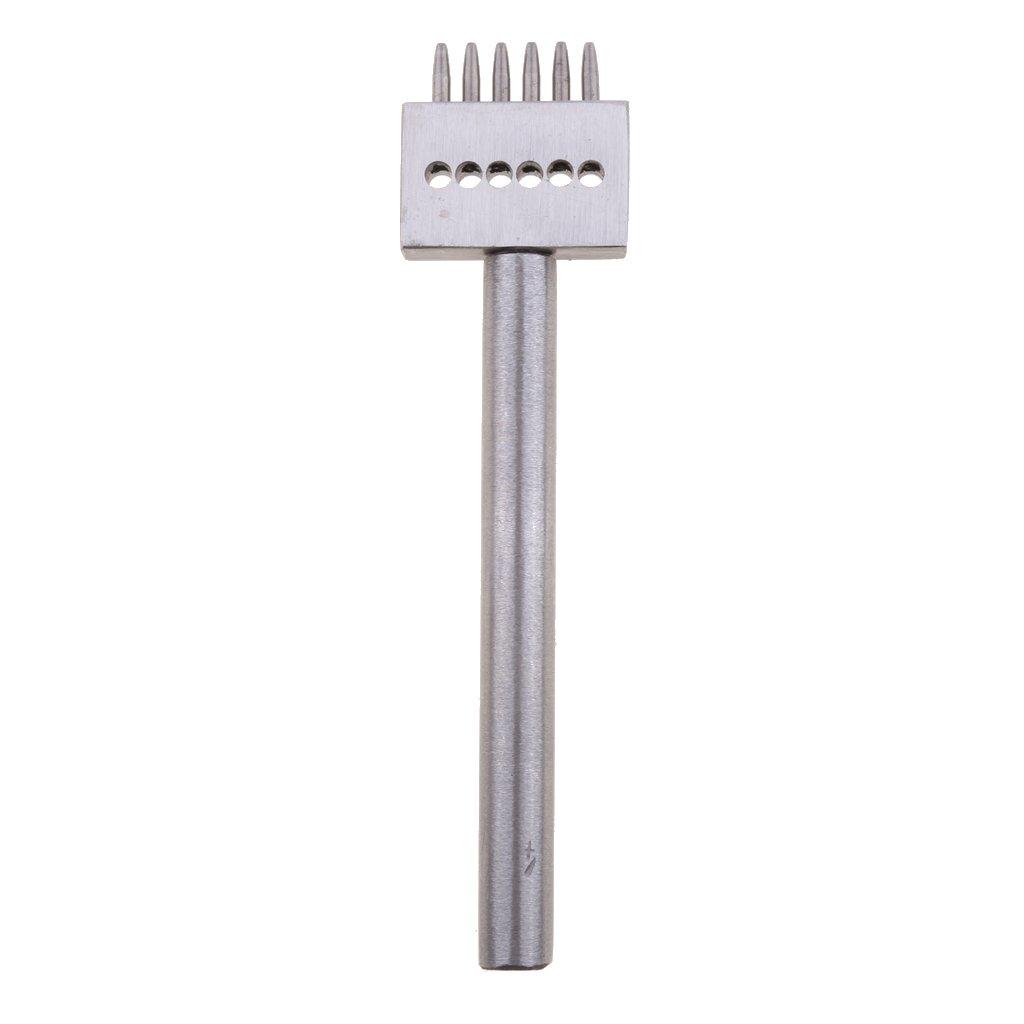 Homyl Herramienta de Perforaci/ón de Orificios Perforadores para Jardiner/ía Partes de Soportes 8 mm de espacio 2 dientes