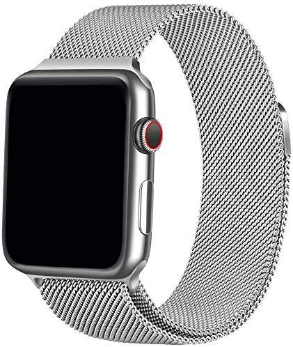 [해외]Apple Watch 밴드 최신 제조 공정 Apple Watch Band iWatch 벨트, apple 악대 ミラネ?ゼル?プ 호환 애플 시계 밴드 호환 애플 시계 4 호환 apple wat Ch series4321에 스테인리스 걸쇠 (38mm40mm 실버) / Apple watch Band Latest Manufacturing Pro...