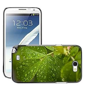 Super Stellar Slim PC Hard Case Cover Skin Armor Shell Protection // M00050690 macro aero drops water drops green // Samsung Galaxy Note 2 N7100