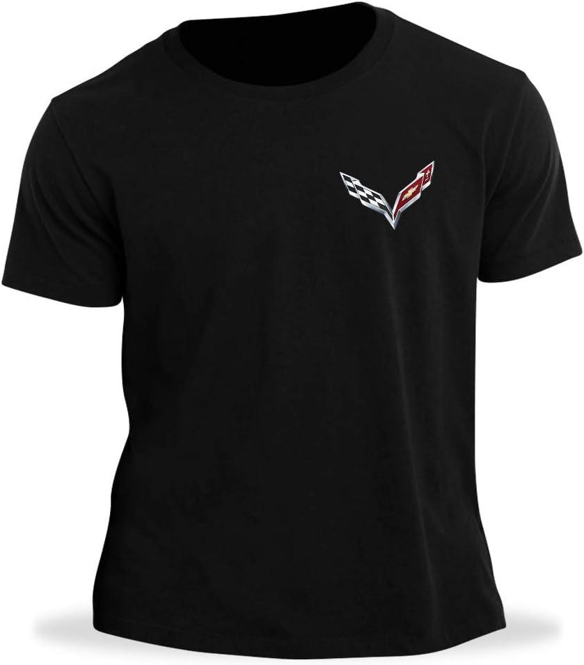 C7 Corvette Born in The USA American Legacy Mens T-Shirt Small, Black