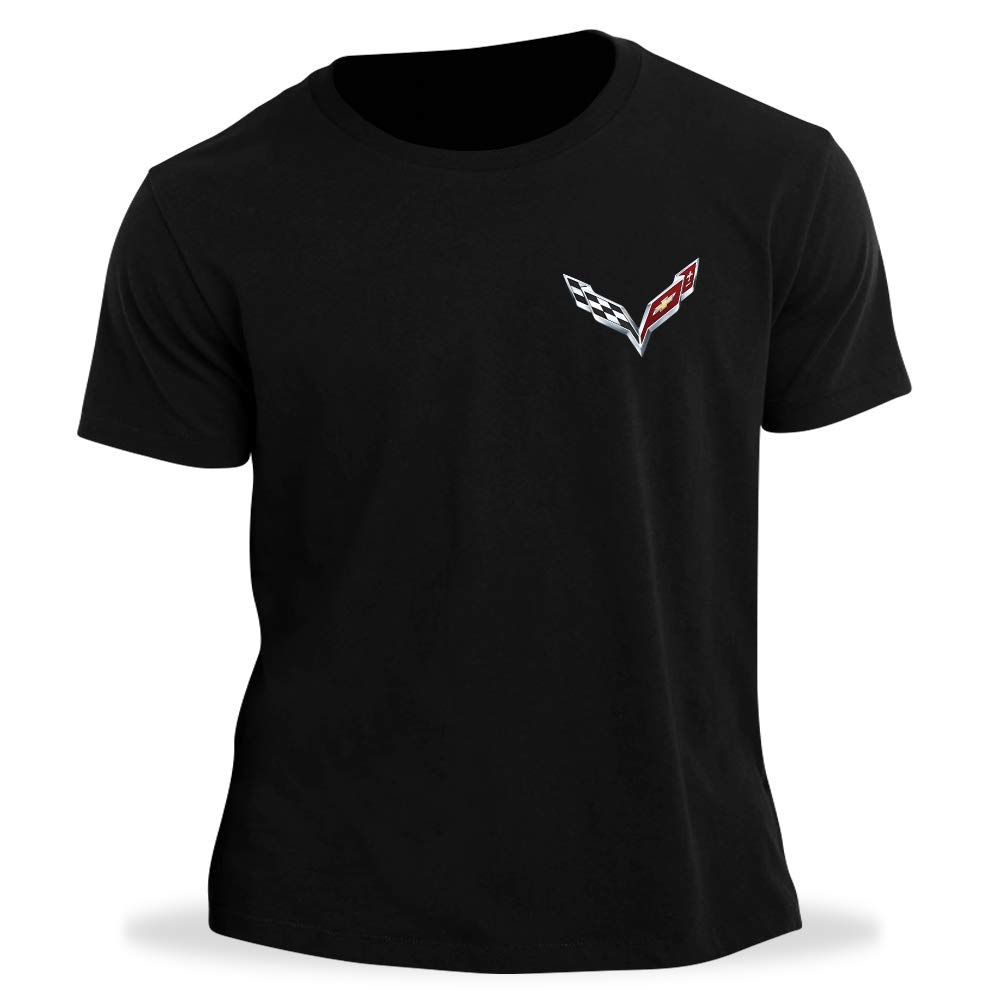 C7 Corvette Born in The USA American Legacy Mens T-Shirt West Coast Corvette XXX-Large, Black