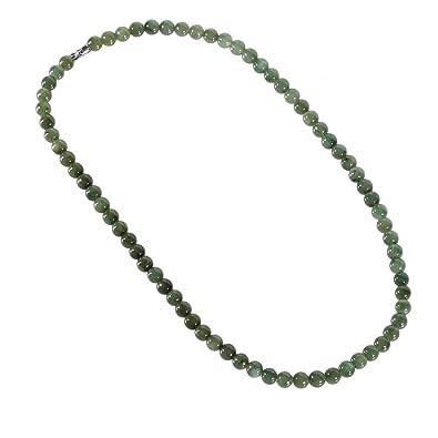 Lachineuse COLLIER CLASSIQUE Perles de Jade - Symbole de Beauté et de  Féminité - Pochette en a94d0327cd50