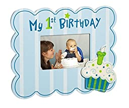Blue My First Birthday Cupcake 4X6 Picture Frame