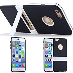 HOT 10colors Soft TPU Kickstand Case for Apple iphone 6 4.7 /5.5 Stand Holder Phone Accessories Hard Back Cover for iphone6 plus --- Color:orange for i6 plus