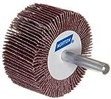 Norton Metalite R265 Abrasive Flap Wheel, Round Shank, Aluminum Oxide, 1'' Dia., 5/8'' Face Width, Grit 80, 30000 Max RPM (Pack of 10)