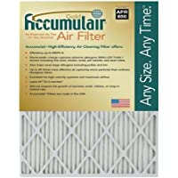Accumulair Gold 20x34x0.5 (19.5x33.5x0.5) MERV 8 Air Filter/Furnace Filters (4 pack)