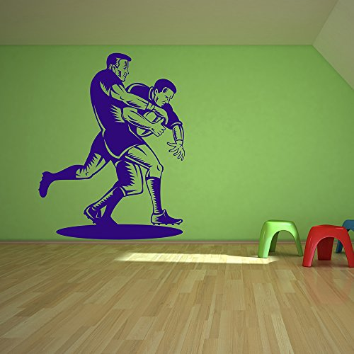azutura Rugby Tackle Wall Sticker Sports Wall Decal Boys Bedroom Home Decor available in 5 Sizes and 25 Colours Small Burgundy