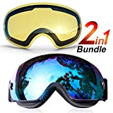 NIPSU Ski Goggles, Snowboard Goggles OTG...