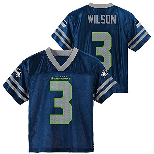 Russell Wilson Seattle Seahawks Navy Toddler Player Home Jersey (Toddler 4T)