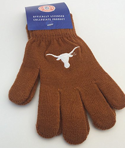 pack-of-2-drew-pearson-marketing-officially-licensed-ncaa-texas-longhorns-youth-knit-gloves-burnt-or
