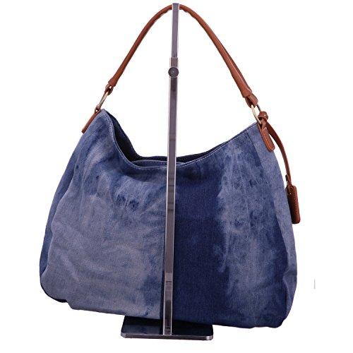 Rieker- H1449, Borse a spalla, Donna, Blu (Blau), 14x27x35 cm (B x H x T)