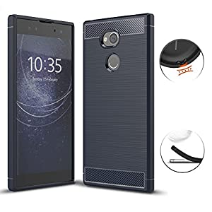 Sony Xperia XA2 Ultra Case, TopACE Ultra Thin Carbon Fiber Scratch Resistant Shock Absorption Soft TPU Protective Cover for Sony Xperia XA2 Ultra