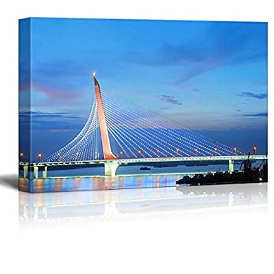 Beautiful Scenery Landscape Bridge on Gan River in Ancient and Architecture - Canvas Art Wall Art - 16
