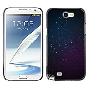 Planetar® ( Cosmos Purple Blue Deep Space Stars ) SAMSUNG Galaxy Note 2 II / N7100 Fundas Cover Cubre Hard Case Cover