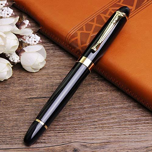 Potelin Luxury Fountain Pen 450 Black with Golden 18kgp Broad Nib Medium by Potelin (Image #4)