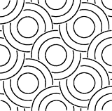 Quilting Creations Over Lapping Circles Block Stencil, 16''