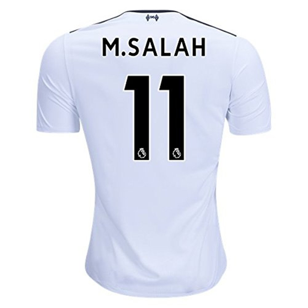 e7715aef6f9 Top1: 11 M Salah Liverpool Away Soccer Jersey 2017-2018 White Mens Size M