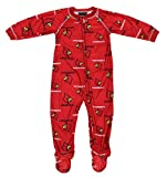 Outerstuff Louisville Cardinals NCAA Baby Boys Raglan Zip-up Coverall Sleeper, Red