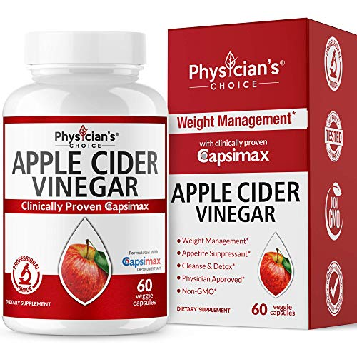 Fat Burners for Women & Men, Thermogenic Fat Burner Pills (Award Winning Capsimax) Organic Apple Cider Vinegar Capsules, Metabolism Booster, Appetite Suppressant, Non-GMO Diet Kit, 60 Count (For Herbs Weight Loss)