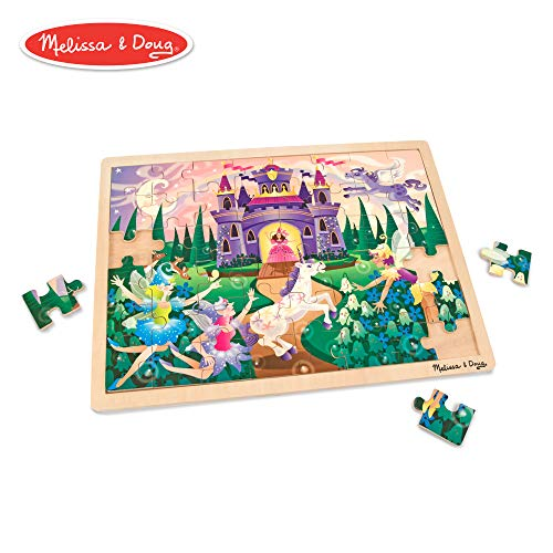 Melissa & Doug Fairy Fantasy Wooden Jigsaw Puzzle With Storage Tray (48 pcs)