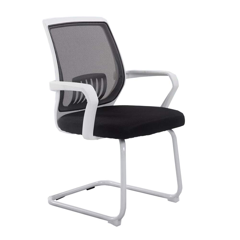 White Dall Office Chair, Family Bow Chair Conference Chair Staff Chair Student Chair Mesh Breathable Backrest (color   White)