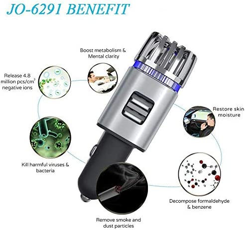 ionkini New Portable Mini 12V USB Car Charger Ozone Air Cleaner Air Purifier