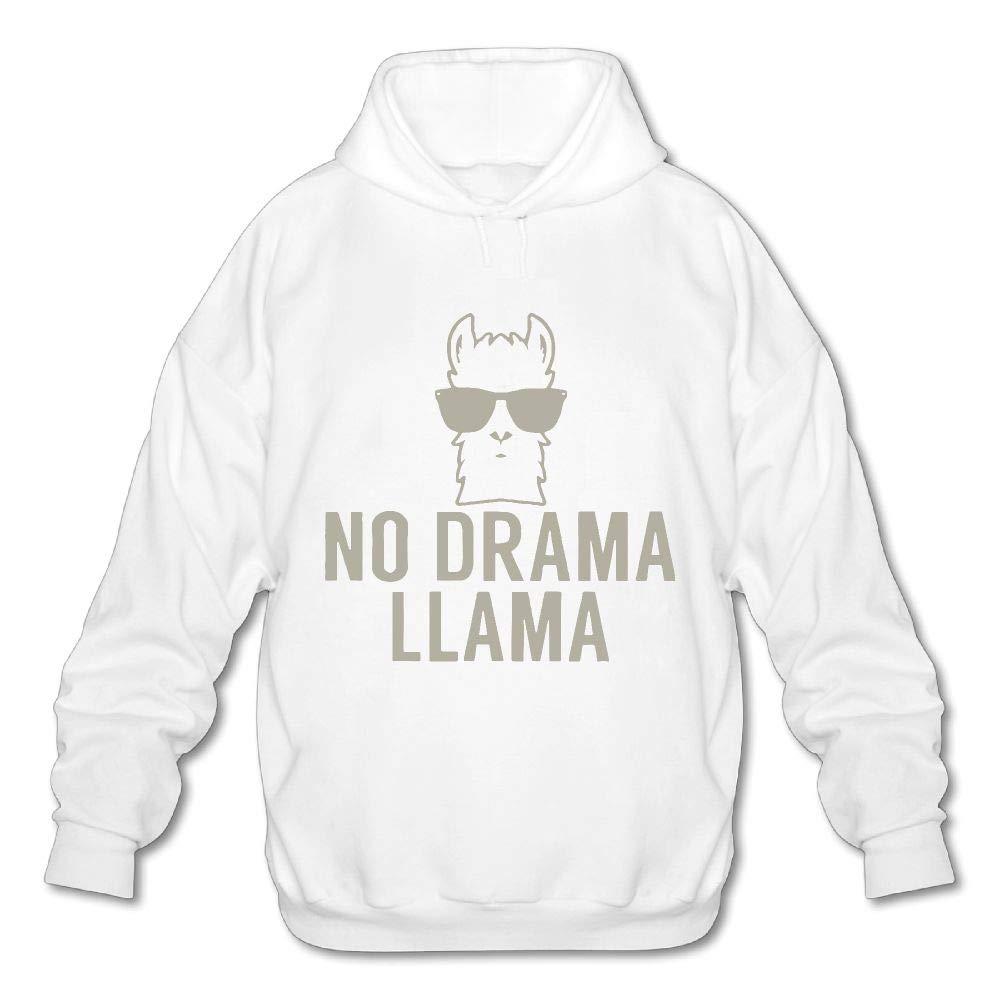 OPQRSTQ-O No Drama Llama Mens Funny Hooded Sweatshirt Hoodie