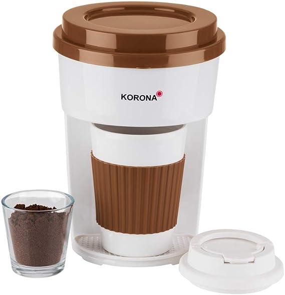 Korona - Cafetera de goteo con vaso talla única verde y blanco ...