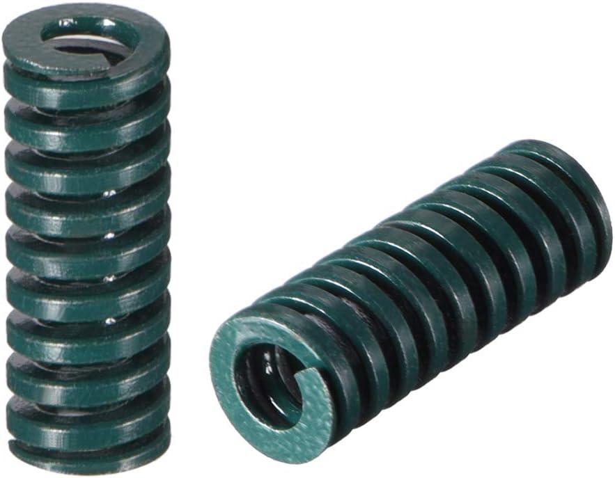 Sourcingmap Molde de compresi/ón para estampaci/ón en espiral color verde 20 mm, 2 unidades