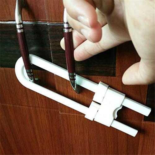 (AIUSD 4PC Sliding Cabinet Locks for Child Safety U Shaped Baby Safety Locks Doors)