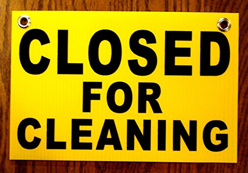1Pc Astonishing Unique Closed for Cleaning Coroplast Signs Outdoor Decal Shop Floor Holder Restroom Sign Do Not Enter Banner Door Hanger Work In Progress Wet Caution Bathroom Size 8