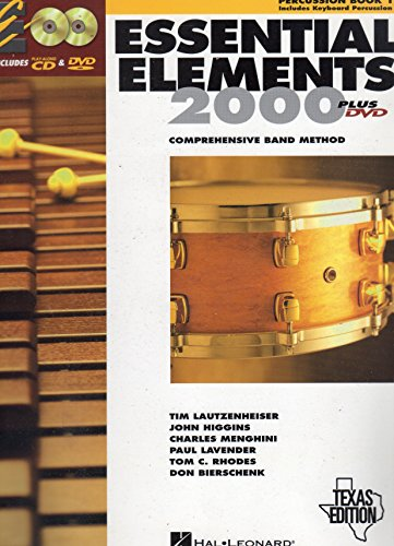 Essential Elements 2000 Percussion Book - Essential Elements 2000: Comprehensive Band Method (Percussion Book 1) Texas Edition