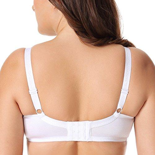 fe37bb4db7 Delimira Women s Sheer Lace Unlined Minimizer Underwire Full Figure Bra  cheap