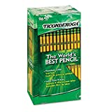 AVDFSRG Ticonderoga Wood-Cased 2 HB Pencils, Box of 96, Yellow 4 Pack